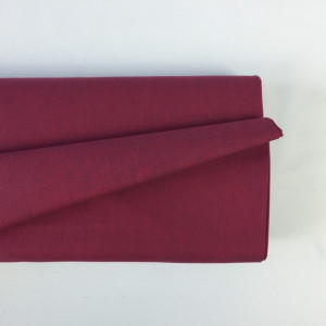 Tissu à chemise bordeaux/bleu    - Mercerine