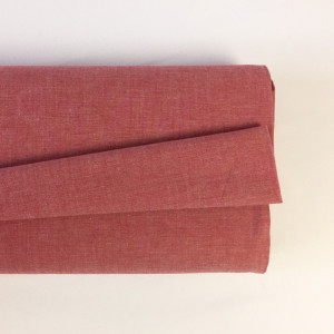 Tissu à chemise rouge/blanc    - Mercerine