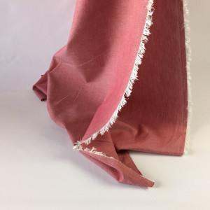 Tissu à chemise rouge/blanc   - tombé - Mercerine