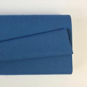 Tissu à chemise bleu mer    - Mercerine