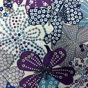 Coton Liberty MAUVEY violet- zoom - Mercerine