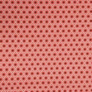 X10cm Imprimé Japonais Coton Motif Rouge 5jALq4R3