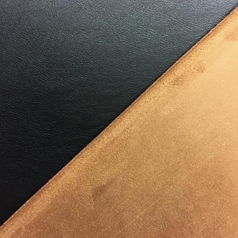 X10cm Tissu Simili Cuir Noir