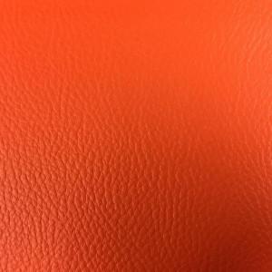 Tissus simili cuir orange tangerine Karl - Mercerine.com