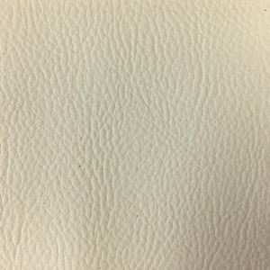 Tissus simili cuir blanc au mètre - zoom 10cm - Mercerine.com
