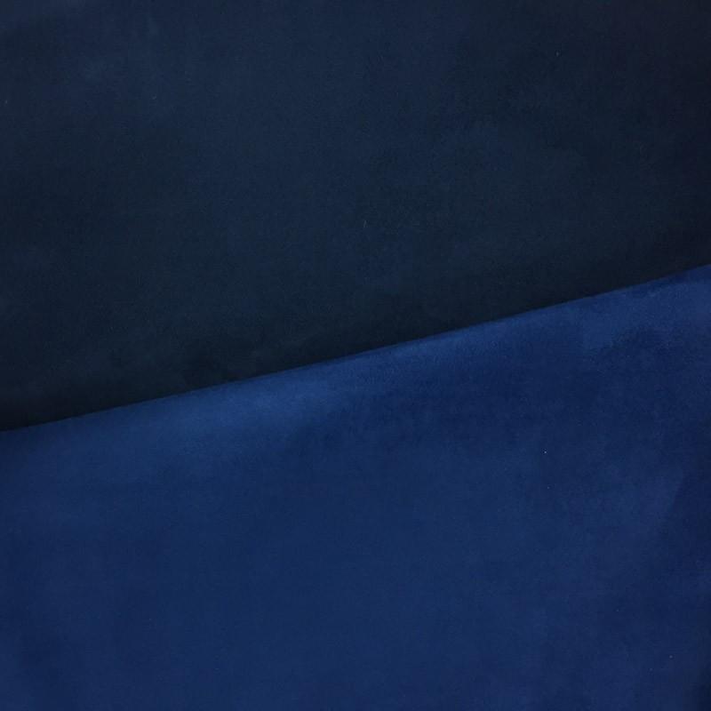 Su dine bleu roi bleu marine volteface par 10cm - Tissu ameublement au metre ...