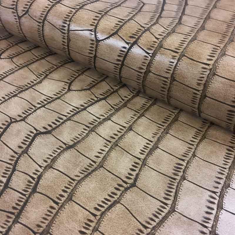 Simili cuir crocodile crotale par 10cm - Tissu ameublement au metre ...