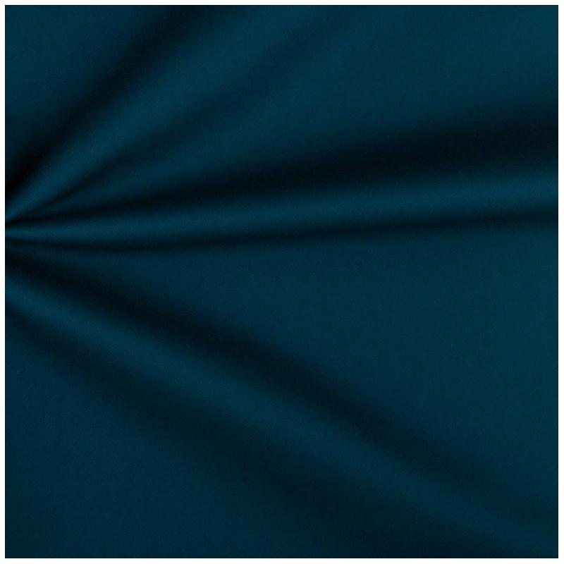 Tissu sergé coton bleu paon Octave