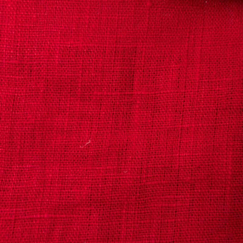 tissu lin lav rouge toile par 10cm. Black Bedroom Furniture Sets. Home Design Ideas