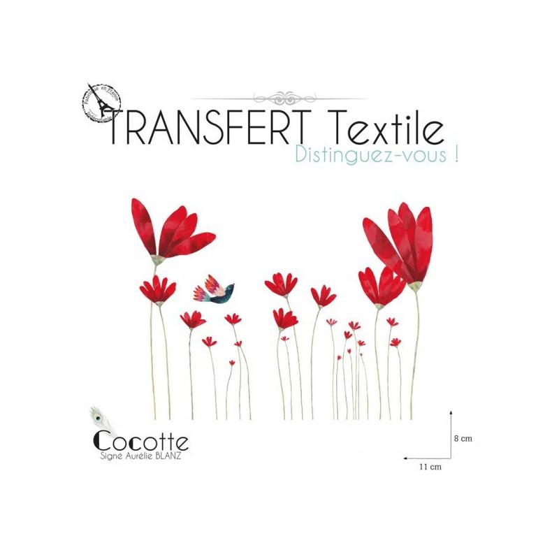 En commun Transfert textile Les fleurs rouges @RU_71