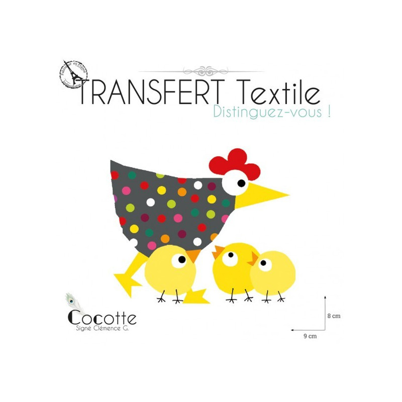 Bien-aimée Transfert textile La cocotte &KB_82