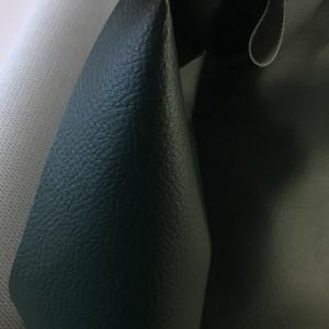 Tissus simili cuir vert foncé - tombé - Mercerine.com