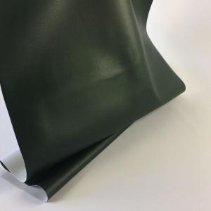 Tissus simili cuir vert foncé - souple - Mercerine.com