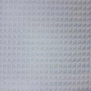 Zoom Tissu éponge Nid d'abeille / bouclettes bleu ciel - mercerine.com