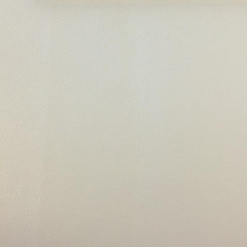 Tissu simili cuir blanc au mètre - Mercerine.com
