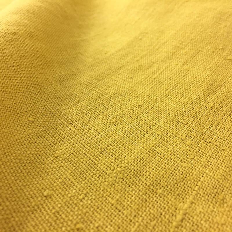 tissu lin lav jaune or toile par 10cm. Black Bedroom Furniture Sets. Home Design Ideas
