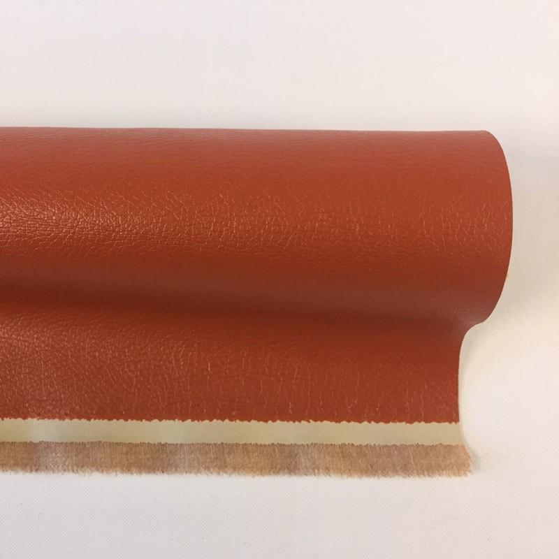 tissu imitation cuir orange brique au m tre mercerine. Black Bedroom Furniture Sets. Home Design Ideas
