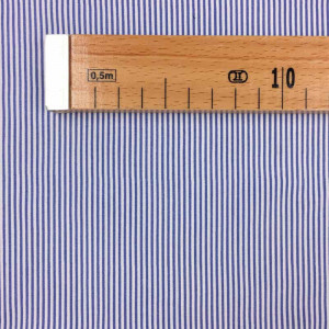 Tissu viscose rayé bleu   x10cm - Mercerine