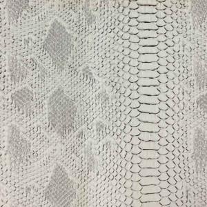 Simili cuir animal reptile blanc- rouleau de tissu au mètre - Mercerine.com