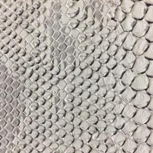 Simili cuir animal reptile blanc- zoom 10cm - Mercerine.com