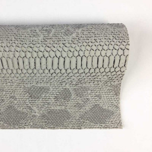 Simili cuir animal reptile blanc- rouleau au mètre - Mercerine.com