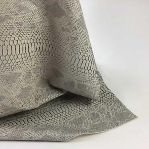 Simili cuir animal reptile gris clair- tombé du tissu - Mercerine.com