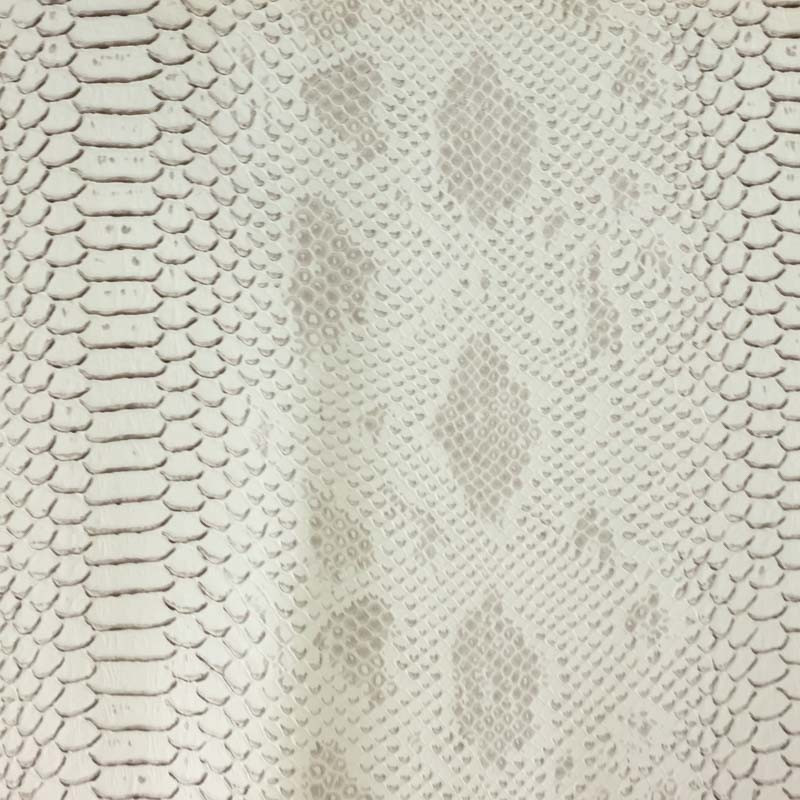 Simili cuir animal reptile blanc au mètre - Mercerine.com
