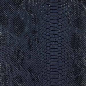 Simili cuir animal reptile bleu nuit au mètre - Mercerine.com