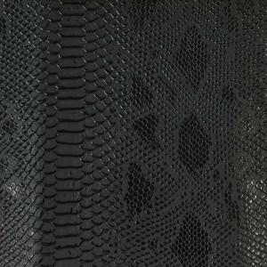Simili cuir animal reptile noir au mètre - Mercerine.com, mercerie en ligne