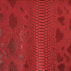 Simili cuir animal reptile rouge - Mercerine.com