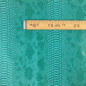 Simili cuir animal reptile vert - tissu au mètre - Mercerine.com