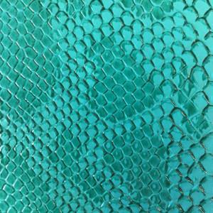 Simili cuir animal reptile vert - Rouleau de tissu au mètre - Mercerine.com