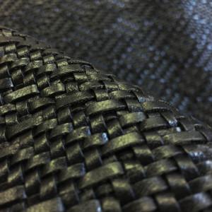 Guinguette Tissu Cuir Noir Simili Tressé AjL54R