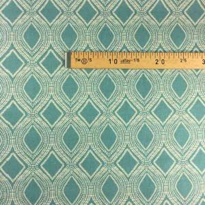 X10cm Oriental Turquoise Décoration Bleu Tissu ID29HE
