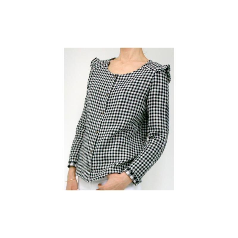 c5cdd8d02c2b8 VERTIGE Patron blouse et robe femme - Atelier Scammit