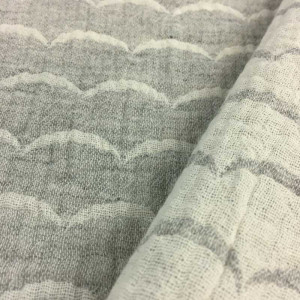 Double Gaze Kokka réversible White Waves gris