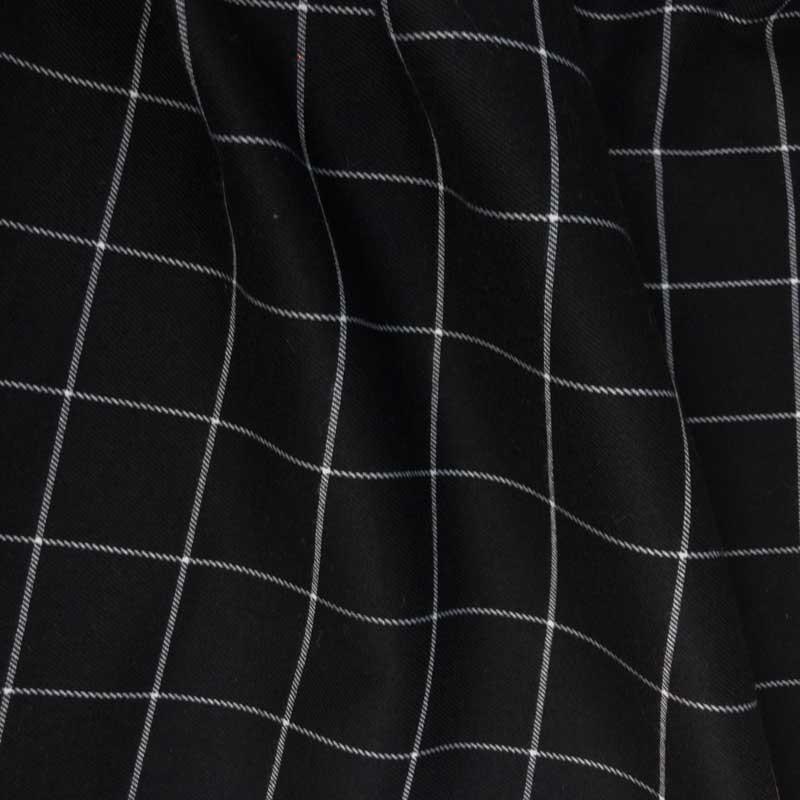 Achat Tissu Écossais Noir Carreaux Blanc - Mercerine.com