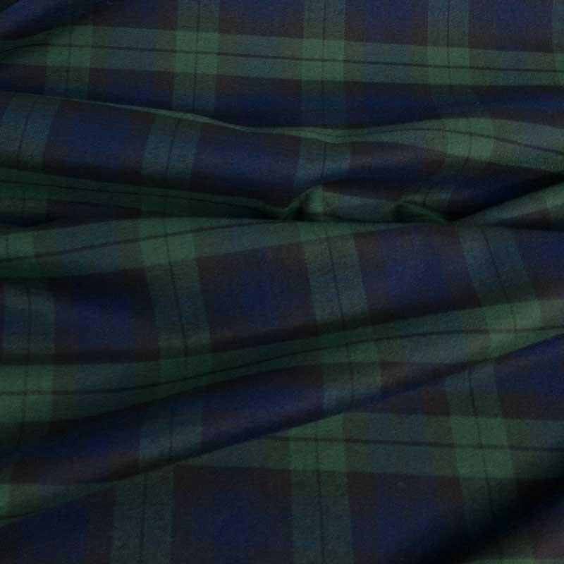 Achat Tissu Écossais Vert Bleu Grand Carreaux pas cher - Mercerine.com