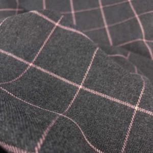 Vente Tissu Écossais en ligne - Tissu Gris à Carreaux Rose - Mercerine.com - zoom