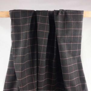Achat Tissu Écossais en ligne - Tissu Gris à Carreaux Rose - Mercerine.com
