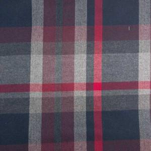 Tissu au mètre imprimé écossais Noir Gris Rouge Blanc - Mercerine.com
