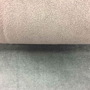 Tissu uni éponge / doudou gris au mètre - Mercerine.com