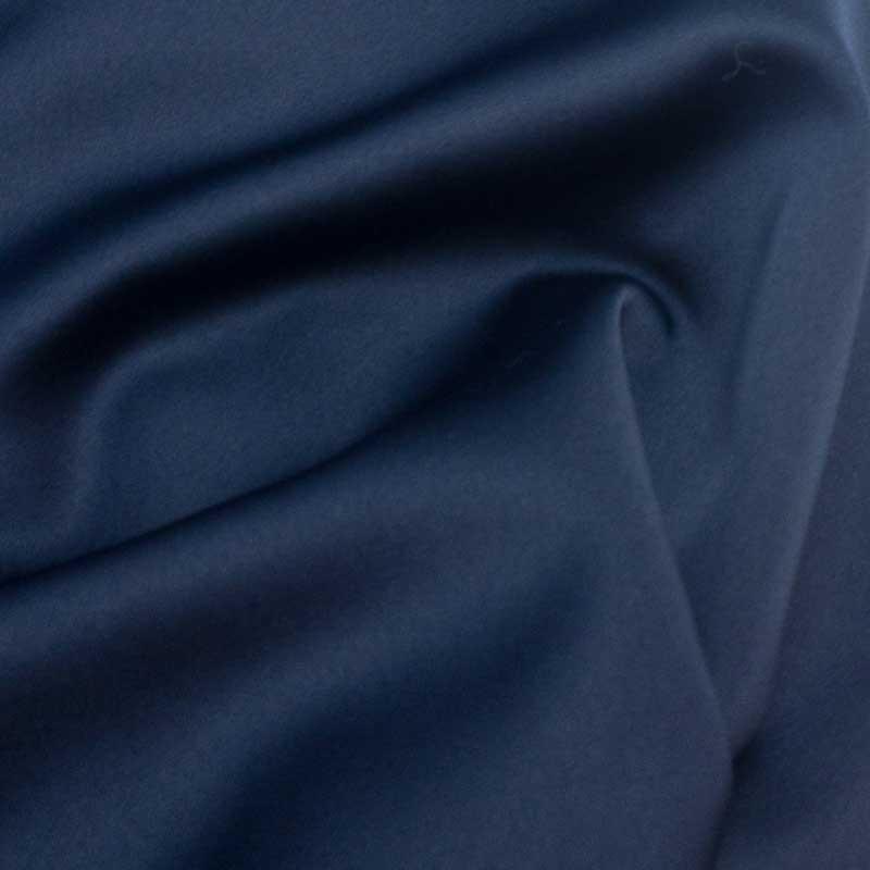 Tissu satin au mètre - Tissu pour robe de soirée bleue Mercerine.com