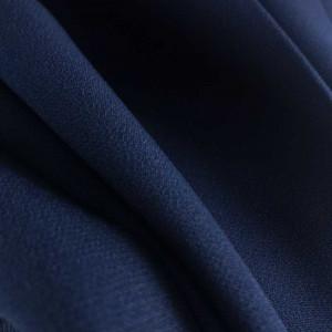 Tissu crêpe bleu marine en ligne - zoom sur le tissu épais pas cher