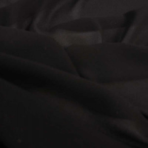 Tissu crepe georgette au mètre - Tissus en ligne Mercerine - tissu transparent noir
