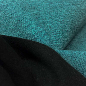 tissu rideau occultant souple alaska vert canard mercerine. Black Bedroom Furniture Sets. Home Design Ideas