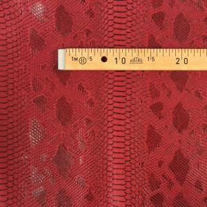 Simili cuir animal reptile rouge- mètre - Mercerine