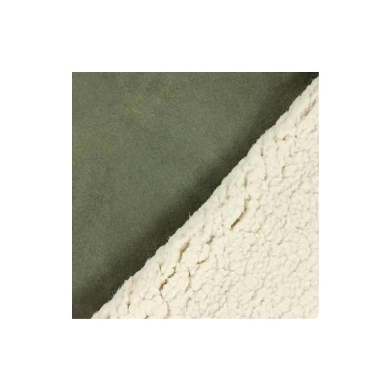 Tissu peau lainée vert kaki