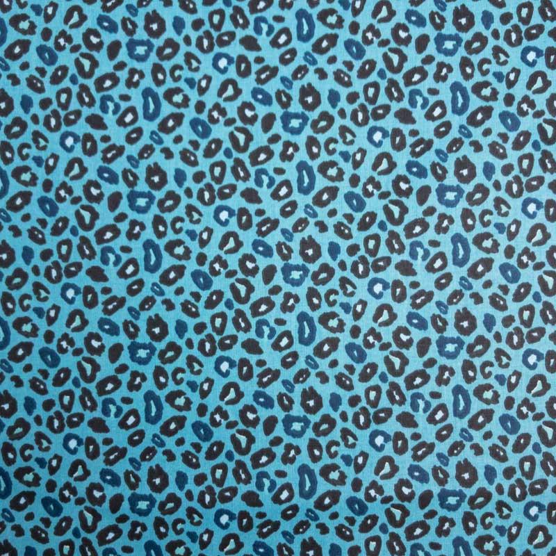 Coton imprimé peau de léopard canard Mercerine.com