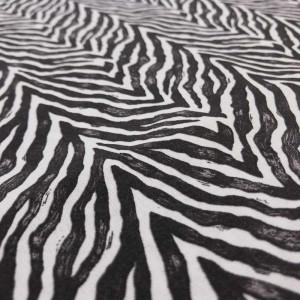 coton imprim peau de z bre noir et blanc x10cm. Black Bedroom Furniture Sets. Home Design Ideas